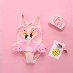 Little Flamingo Swimsuit-kid clothing-UAE Cute Stuff