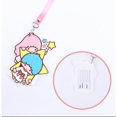 Little Twin Stars Kawaii ID Lanyard-lanyard-UAE Cute Stuff