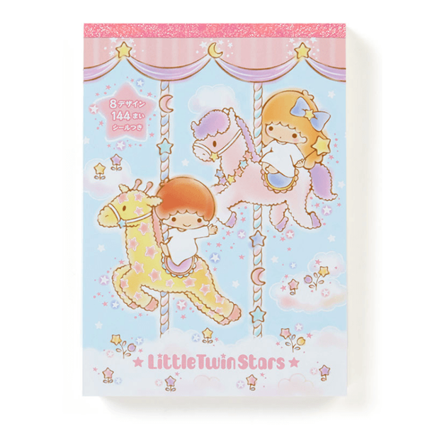 Little Twin Stars Notepad with 8 designs paper inside.-notepad-UAE Cute Stuff