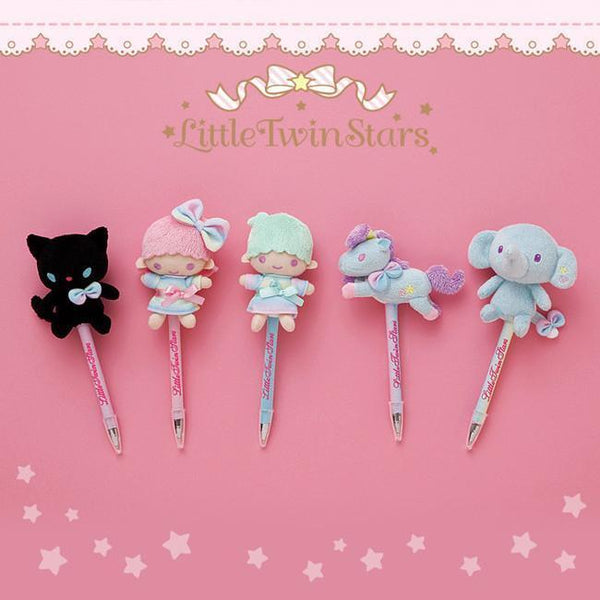 Little Twin Stars& Unicorn Cute Ballpoint Plush Doll-pen-UAE Cute Stuff