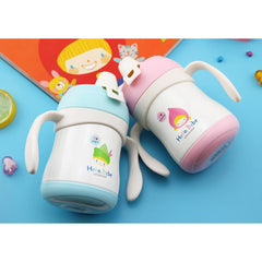 Lock & Lock Stainless Steel Cartoon Double Handle Duck Mug 220ml-coffee& tea-UAE Cute Stuff