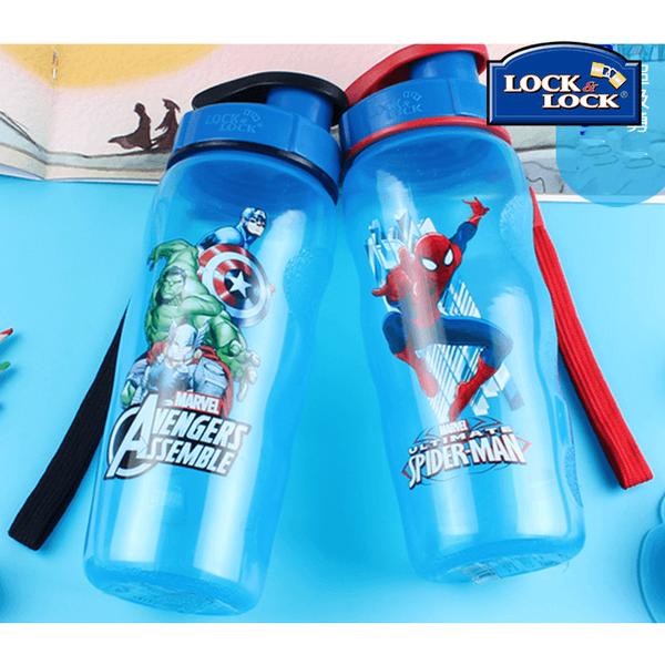 Lock&Lock Anti-Spill Avengers& Spider Man Water Bottle-coffee& tea-UAE Cute Stuff