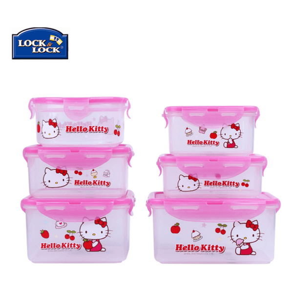 Lock&Lock hello kitty storage box-microwave safe-dinnerware-UAE Cute Stuff
