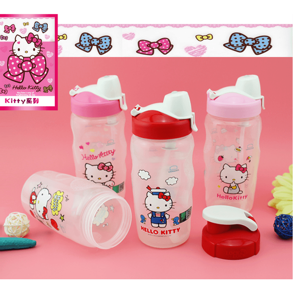 Lock&Lock KITTY Plastic Portable Straw Cup Removable Straw-350ml-coffee& tea-UAE Cute Stuff