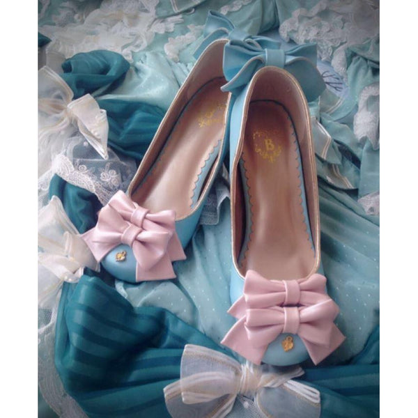 Lolita Cute Shoe with Golden Heels-shoe-UAE Cute Stuff