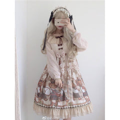 Long Sleeves Sweet Lolita Dress-lolita dress-UAE Cute Stuff
