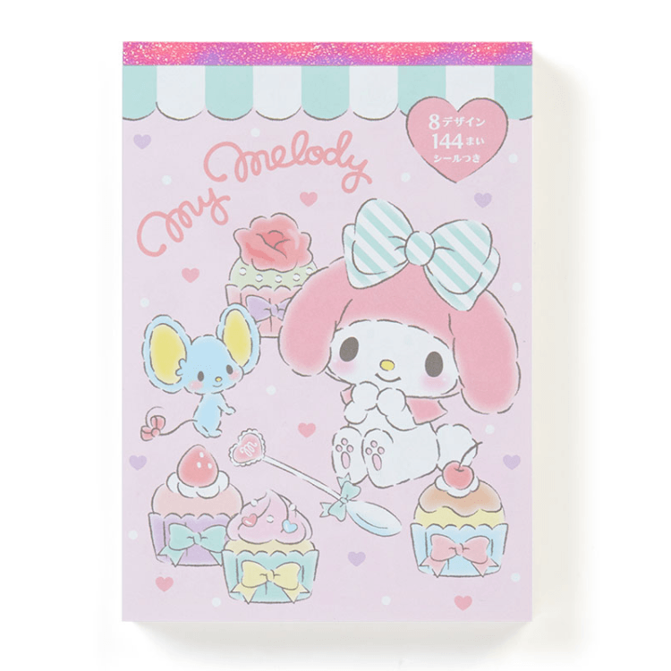 My Melody Notepad with 8 designs paper inside.-notepad-UAE Cute Stuff
