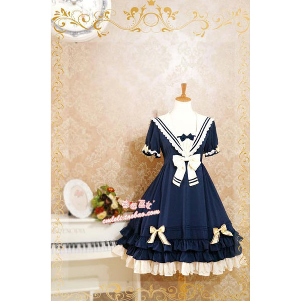 Naval Lolita Dress-lolita dress-UAE Cute Stuff