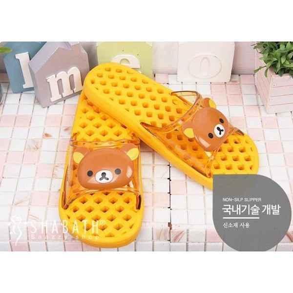non-slip Rilakkuma Bear Toilet Shoe-shoe-UAE Cute Stuff