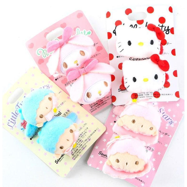 Pair of Hair Clip~Kitty or Little Twin Stars-accessory-UAE Cute Stuff