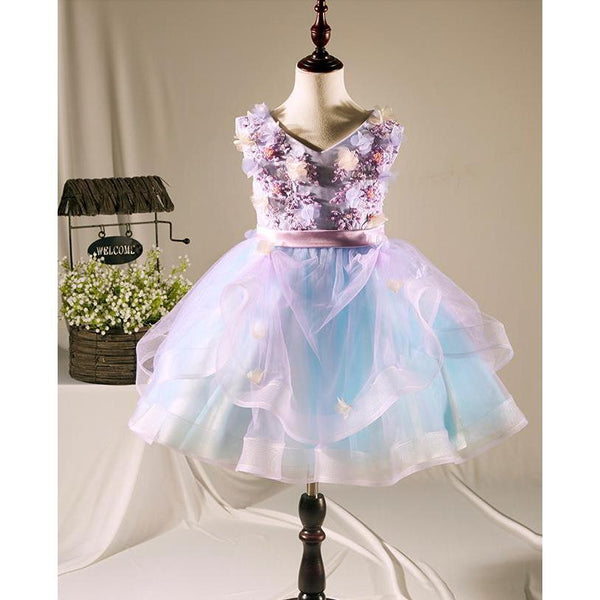Pastel Fairy Tale Dress for Birthday, Pageant, Party/ Flower Dress-kid clothing-UAE Cute Stuff