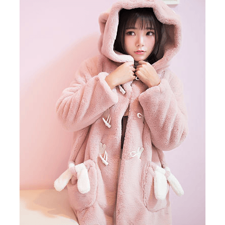 Plush and Kawaii Jacket?~Being a Rabbit~?-everyday dress-UAE Cute Stuff