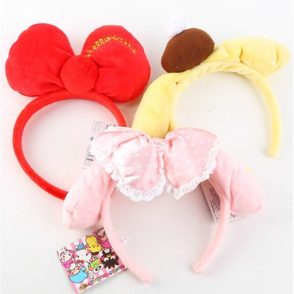 Plush Headband~Kitty, PompomPurin&My Melody-accessory-UAE Cute Stuff
