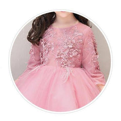 Pretty Pink Girl Dress for Birthday, Pageant, Party/ Flower Dress-kid clothing-UAE Cute Stuff