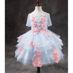 Princess Fairy Tale Girl Dress for Birthday, Pageant, Party/ Flower Dress-kid clothing-UAE Cute Stuff