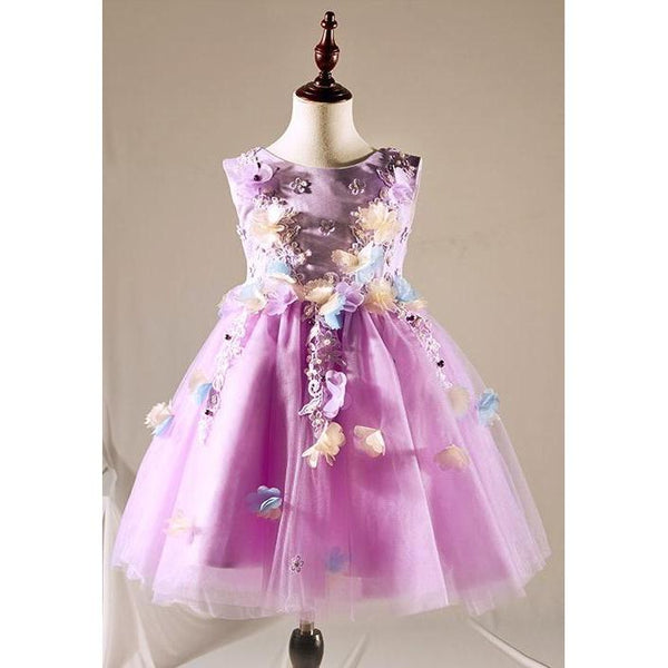 Purple Fairy Tale Flower Dress for Birthday, Pageant, Party/ Flower Dress-kid clothing-UAE Cute Stuff