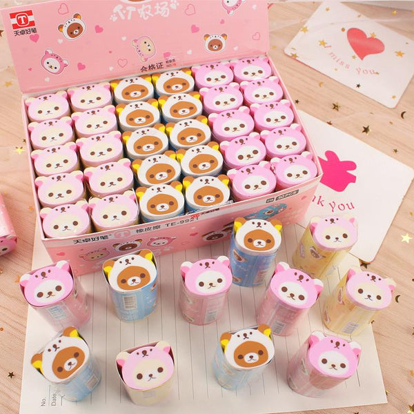 Rilakkuma Bear Kawaii Eraser-15 Pieces-sharpener&eraser-UAE Cute Stuff