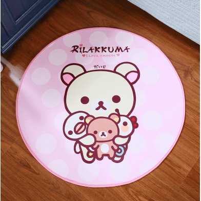Rilakkuma Round Carpet-carpet-UAE Cute Stuff