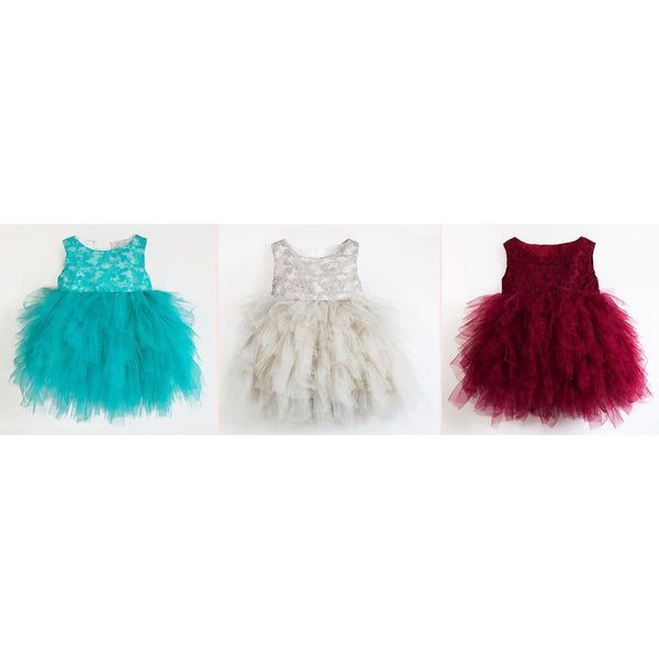 Ruffle Special Day Girl Dress for Birthday, Pageant, Party/ Flower Dress-kid clothing-UAE Cute Stuff