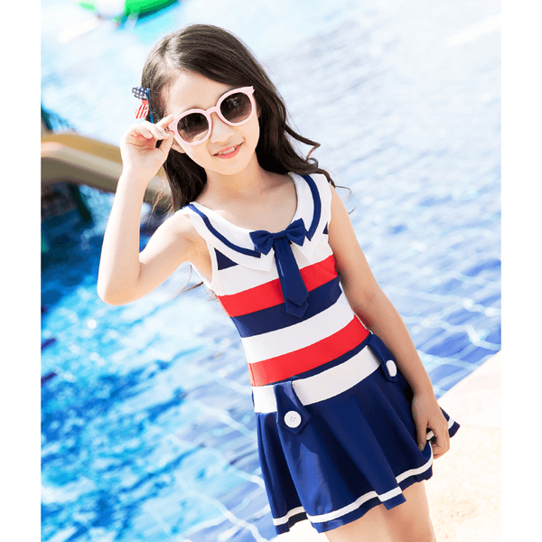 Sailor Inspired Swimwear for Girl-kid clothing-UAE Cute Stuff