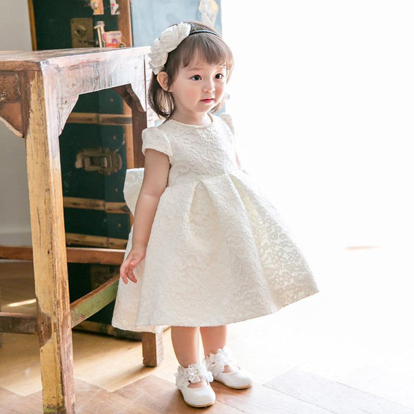 Short Sleeves Lace Dress for Birthday, Pageant, Party/ Flower Dress-kid clothing-UAE Cute Stuff