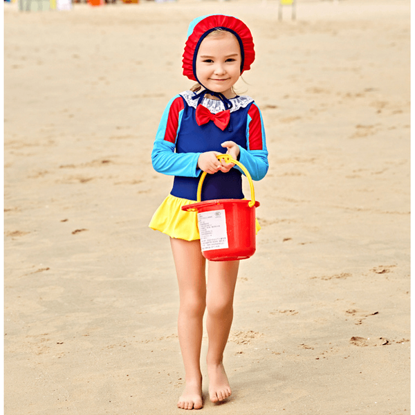 Snow White Swim Suit Set with Cap-kid clothing-UAE Cute Stuff