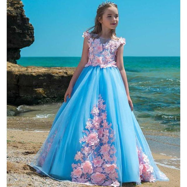 Stunning Isabella Dress for Birthday, Pageant, Party/ Flower Dress-kid clothing-UAE Cute Stuff