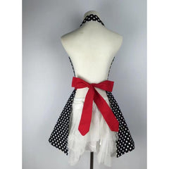 Sultry Apron Dress~Marilyn Red with ruffles-apron-UAE Cute Stuff