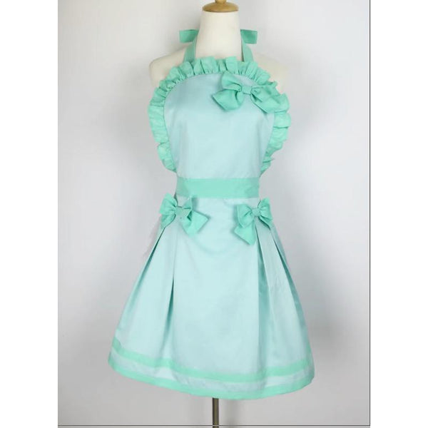 Sultry Apron with Bows-Minty Green-apron-UAE Cute Stuff