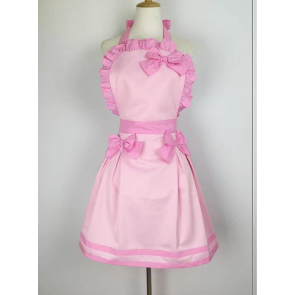 Sultry Apron with Bows-Pink-apron-UAE Cute Stuff