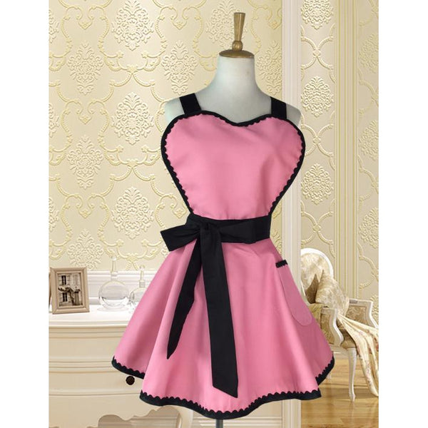 Sultry Heart Chest Apron-apron-UAE Cute Stuff