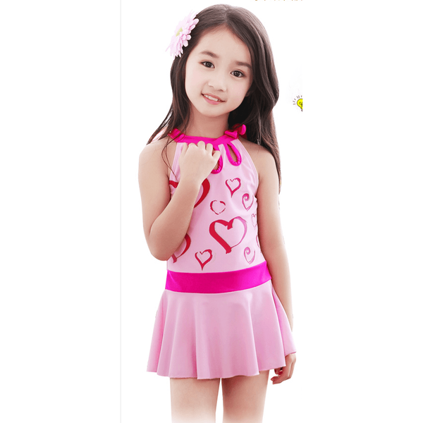 Sweet Heart Swimsuit for girl-kid clothing-UAE Cute Stuff