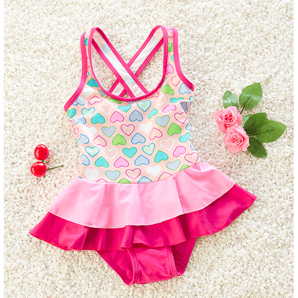 Sweet Hearts Girl Swimwear~ One Piece-kid clothing-UAE Cute Stuff