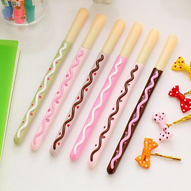 Sweet Kawaii Chocolate Stick Pen set of 6 Pieces-pen-UAE Cute Stuff