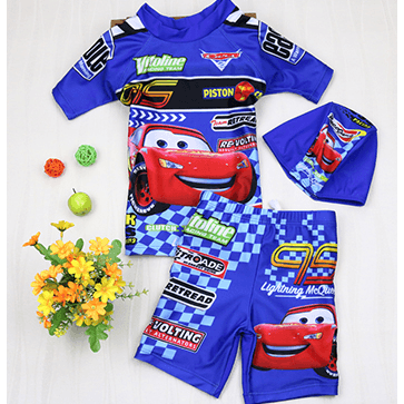 The Cars Boy Swim Suit~2 Pieces short sleeves-kid clothing-UAE Cute Stuff
