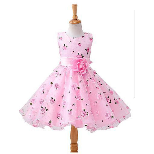 Toddler Girls' Sweet Floral Sleeveless Dress-kid clothing-UAE Cute Stuff