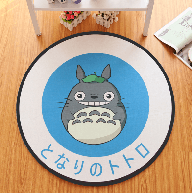 Totoro Round Carpet-carpet-UAE Cute Stuff