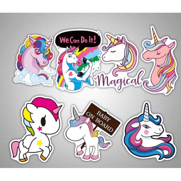 Unicorn Sticker 7 Pieces per set-scrapbook-UAE Cute Stuff
