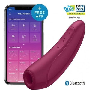 Satisfyer Curvy 1+ pulsation clitoridienne avec application Bluetooth -  rose/rouge