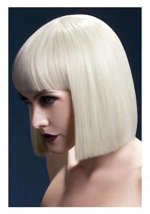 Perruque bob court - blond platine - Boutique LUV