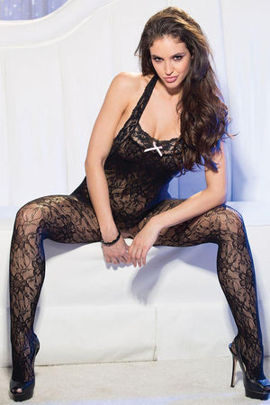 Bodystocking dos nu en dentelle OS - Boutique LUV
