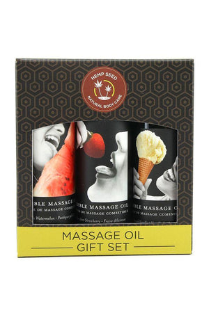 Ensemble cadeau d'huiles de massage comestible Hemp Seed - Boutique LUV