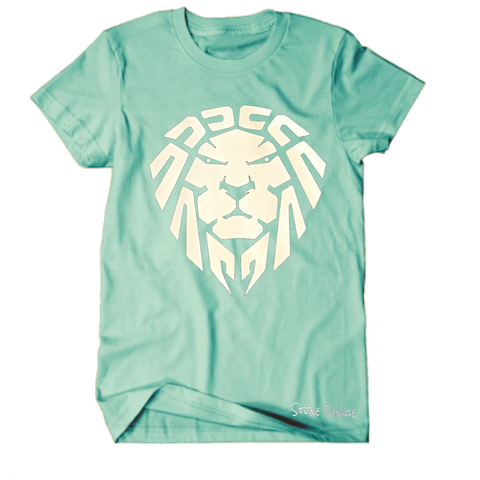 ISLAND GREEN/WHITE LION TEE