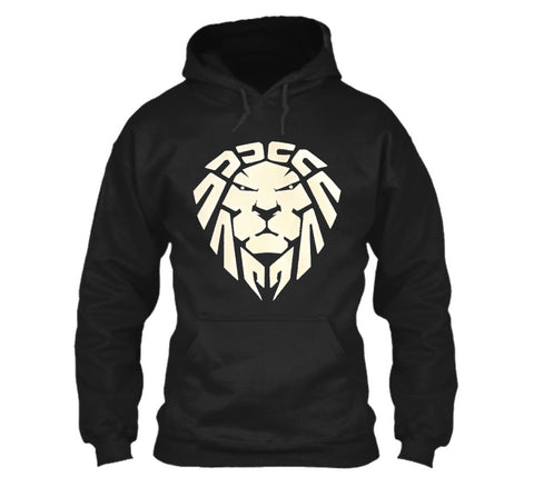 BLACK PULLOVER HOODIE CHINESE LION