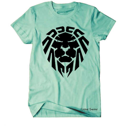 ISLAND GREEN/BLACK LION TEE