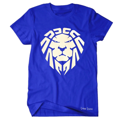 ROYAL BLUE WITH WHITE LION TEE