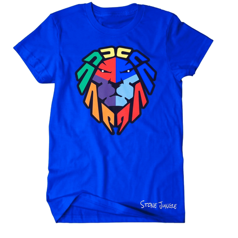 COLOR BLOCK ROYAL BLUE TEE