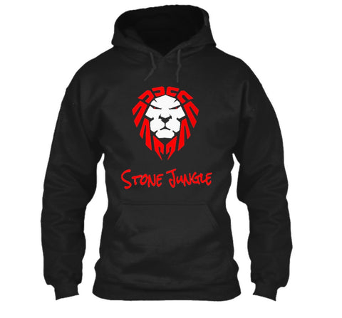 RED/WHITE LION PULLOVER HOODIE