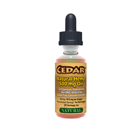 CEDAR Organic Hemp Oil - 500MG
