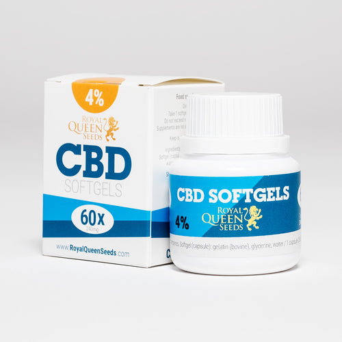 CBD Softgel Capsules 60pcs - Royal Queen Seeds